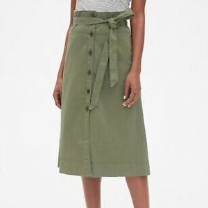 GAP Button-up A-line midi skirt (no belt) size 0